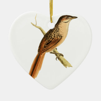 African Soft-tail Ceramic Heart Decoration