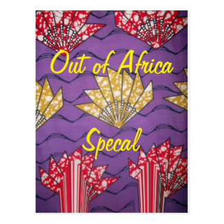 African Special Traditional Pattern Postcard