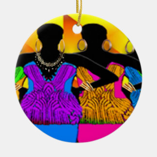 African Style Dream Girls Christmas Ornament