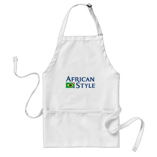 African Style Made In Brazil Adult Apron