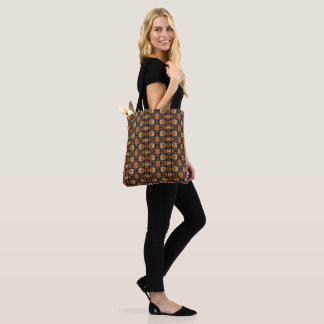 African Style Pattern in ocher, black, white. Tote Bag