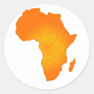 African Sun Round Sticker