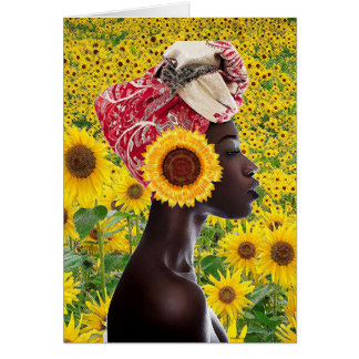 African Sunflower Greeting Card