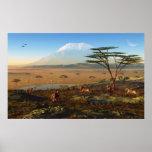 African Sunrise Print