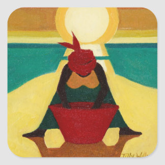 African Sunset 2009 Square Sticker