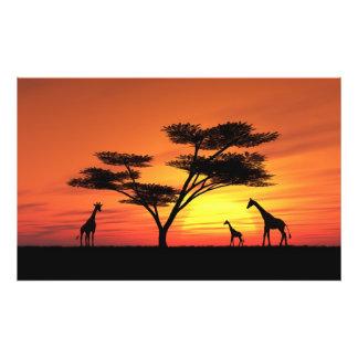 African Sunset Art Photo
