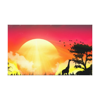 African Sunset Canvas. Canvas Print