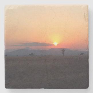 African Sunset Coaster