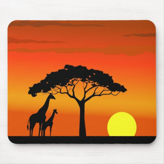 African Sunset Mouse Mat