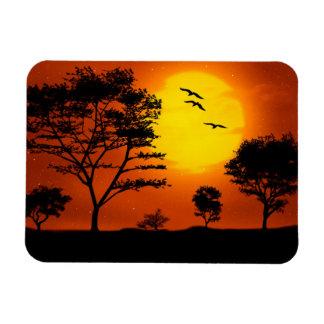 African Sunset Rectangular Photo Magnet