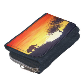 African sunset wallets