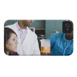 African teacher and students watching experiment iPhone 4 Case-Mate cases