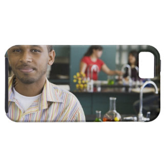African teacher in chemistry lab tough iPhone 5 case