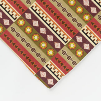 African textile design -fleece blanket