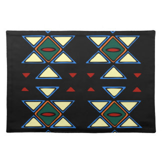 African Textile Triangles Placemat