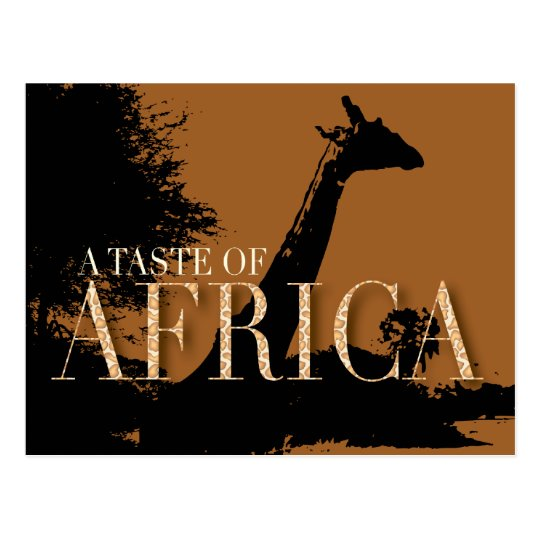 African Themed Party Invitation Postcard