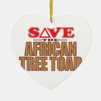 African Tree Toad Save Ceramic Heart Decoration