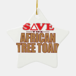 African Tree Toad Save Ceramic Star Decoration