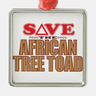 African Tree Toad Save Christmas Ornament