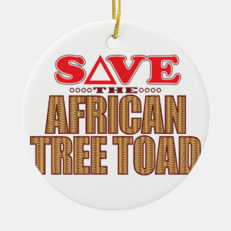 African Tree Toad Save Round Ceramic Decoration