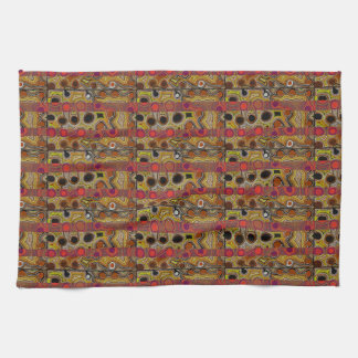 African Tribal  Abstract Art Tea Towel