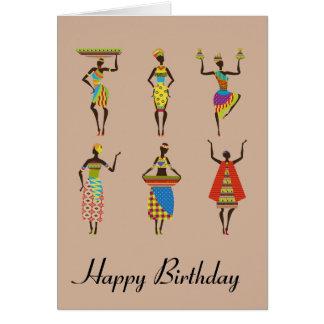 African Tribal art birthday ethnic fashion Card