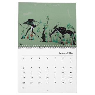 African Tribal Art Calendar