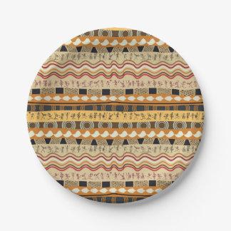 AFRICAN TRIBAL ART PAPER PLATE
