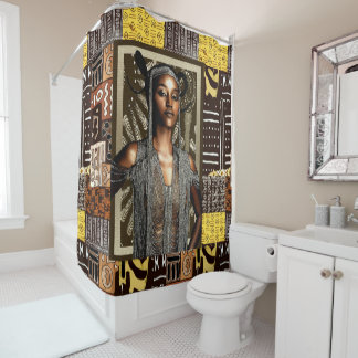 African Tribal Beauty Shower Curtain