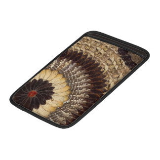 African Tribal Butterfly Wings Art Deco Pattern MacBook Sleeve
