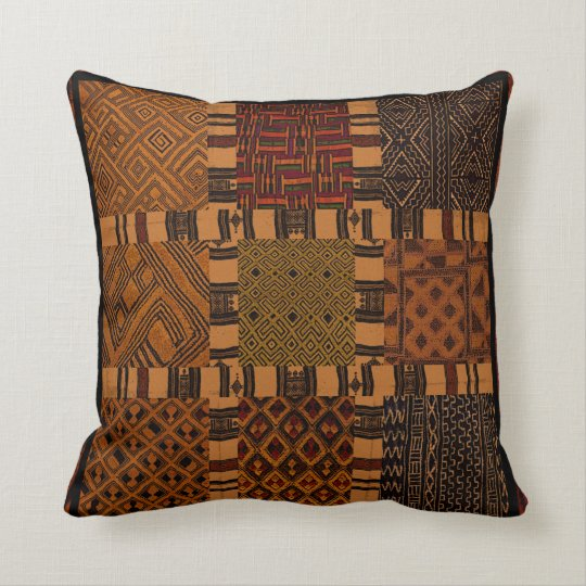 African Tribal Collage Pillow Cushion