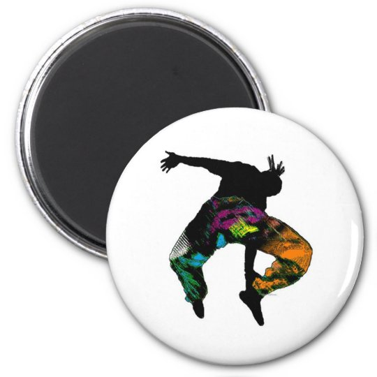 African Tribal Dance 6 Cm Round Magnet