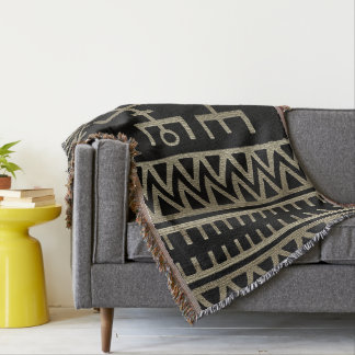 African Tribal Dance Throw Blanket