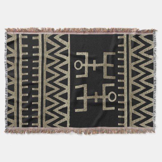 African Tribal Dance Throw Blanket