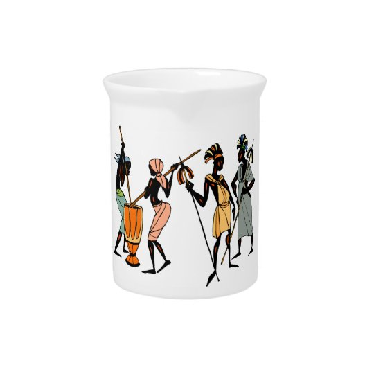 African tribal design pitcher / jug