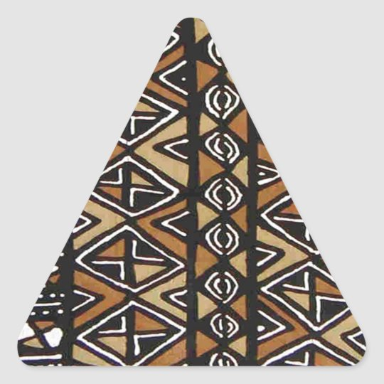 African Tribal Design Triangle Sticker