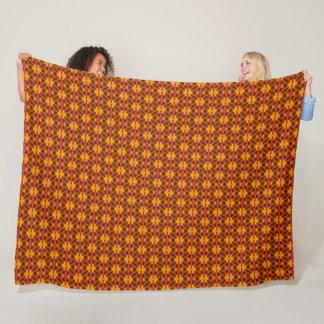 African Tribal Flower Pattern Fleece Blanket