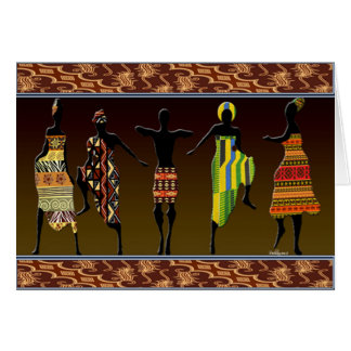 African Tribal Foot Stomp Greeting Card