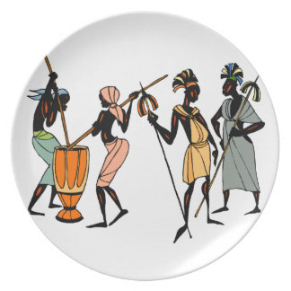 African tribal native design plate