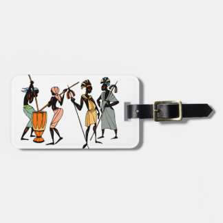 African tribal native style luggage tag