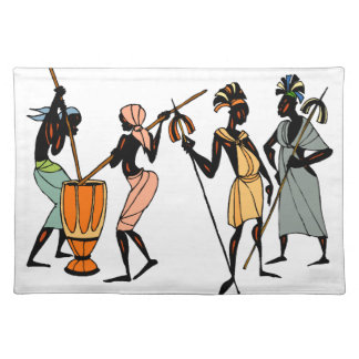 African tribal native style placemat