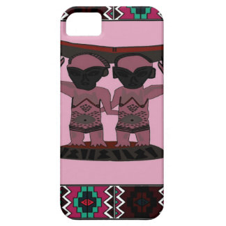 African tribal object -pink iPhone 5 case