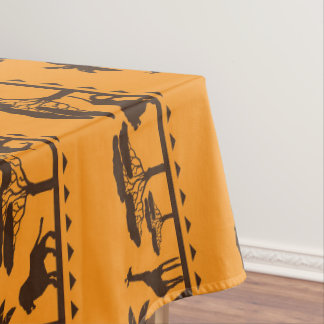 African Tribal pattern Animal dining tablecloth