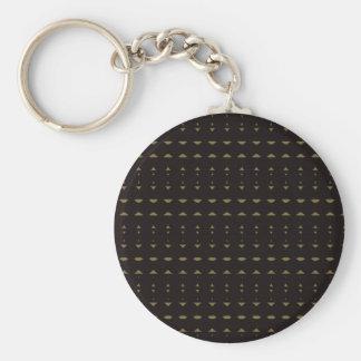 African Tribal Pattern Basic Round Button Key Ring
