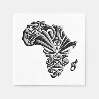 African Tribal Pattern BHM Party Paper Napkins