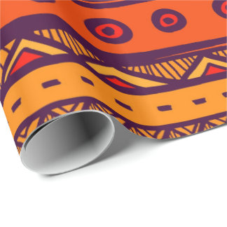 African Tribal pattern party wrapping paper