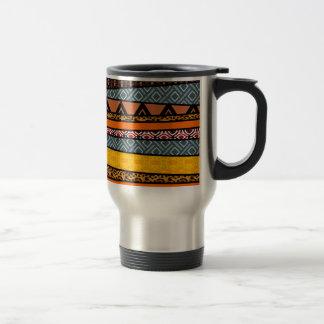 African Tribal Patterns Stainless Steel Travel Mug