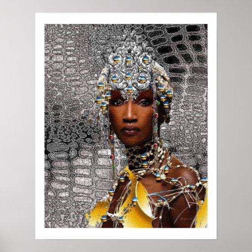 African Tribal Queen Poster