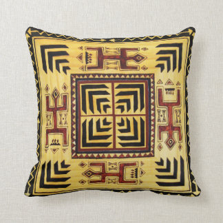 African Tribal Throw Pillow