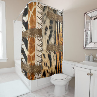 African Tribe Animal Fur Shower Curtain